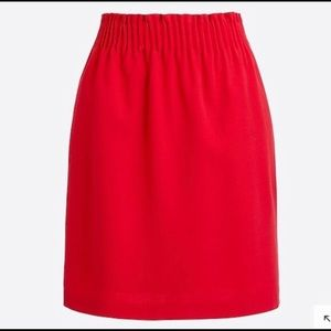 J. Crew sidewalk skirt NWT red